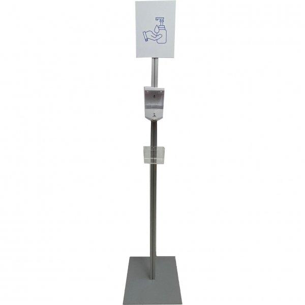Dispenser-Zuil aluminium met Smart Admirror