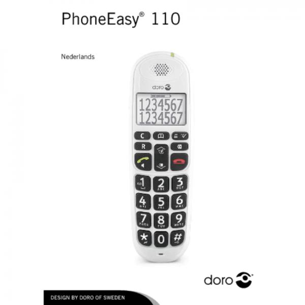 Doro PhoneEasy 110 Senioren Telefoon - Wit