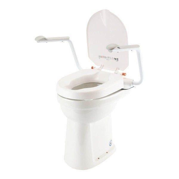 Hi-Loo Toiletverhoger met Armleuning-hoogte 10 cm
