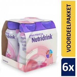 Nutridrink Aardbei | 6 pakken van 4x200ml