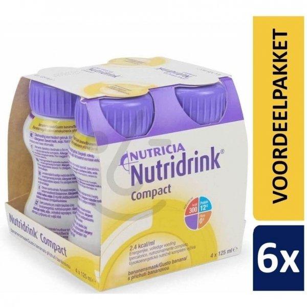 Nutridrink Compact Banaan   6 pakken van 4x125ml