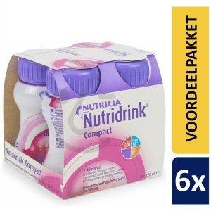 Nutridrink Compact Bosvruchten | 6 pakken van 4x125ml