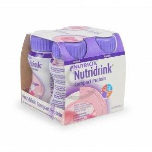 Nutridrink Compact Protein Aardbei 4x125ml