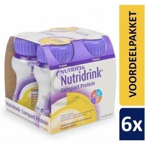 Nutridrink Compact Protein Banaan | 6 pakken van 4x125ml