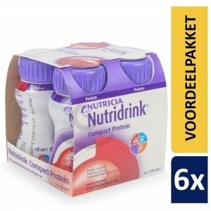 Nutridrink Compact Protein Bosvruchten | 6 pakken van 4x125ml