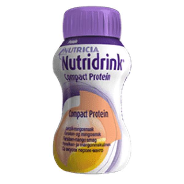 Nutridrink Compact Protein Perzik-Mango 4x125ml