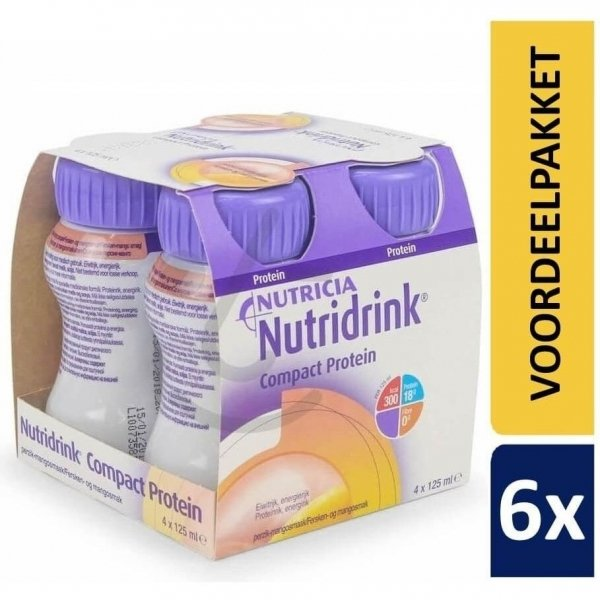 Nutridrink Compact Protein Perzik-Mango   6 pakken van 4x125ml