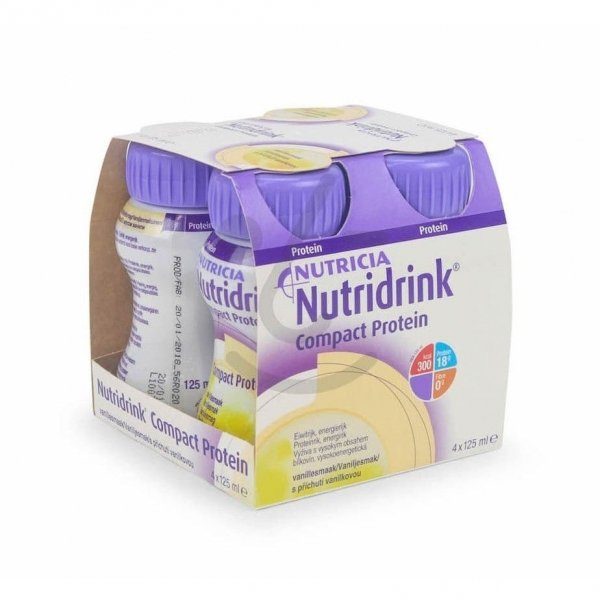 Nutridrink Compact Protein Vanille 4x125ml