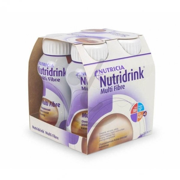 Nutridrink Multi Fibre Chocolade 4x200ml