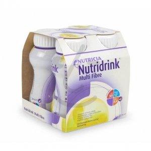 Nutridrink Multi Fibre Vanille 4x200ml