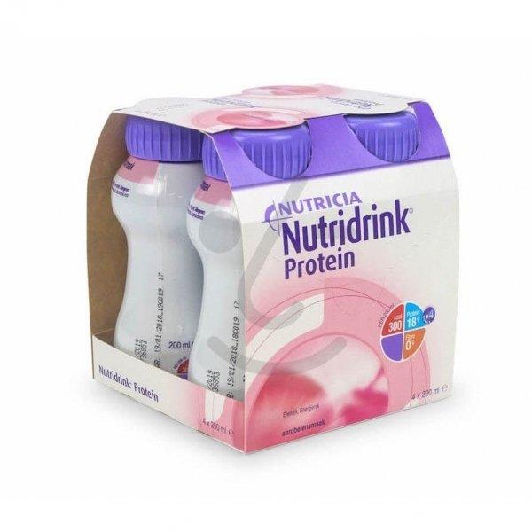 Nutridrink Protein Aardbei 4x200ml