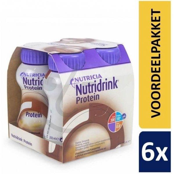 Nutridrink Protein Chocolade   6 pakken van 4x200ml