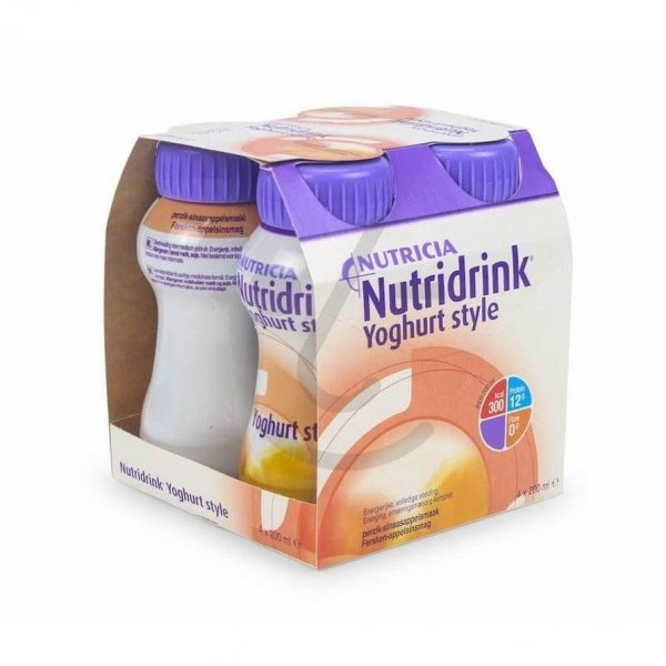Nutridrink Yoghurt Style Perzik/Sinaasappel 4x200ml