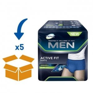 TENA Men Active Fit - Medium | 5 pakken van 12 stuks