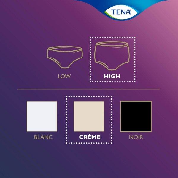 TENA Silhouette Plus - High Waist - Créme - Large | 6 pakken van 10 stuks