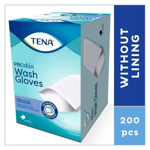 Tena Wash Gloves - 200 stuks