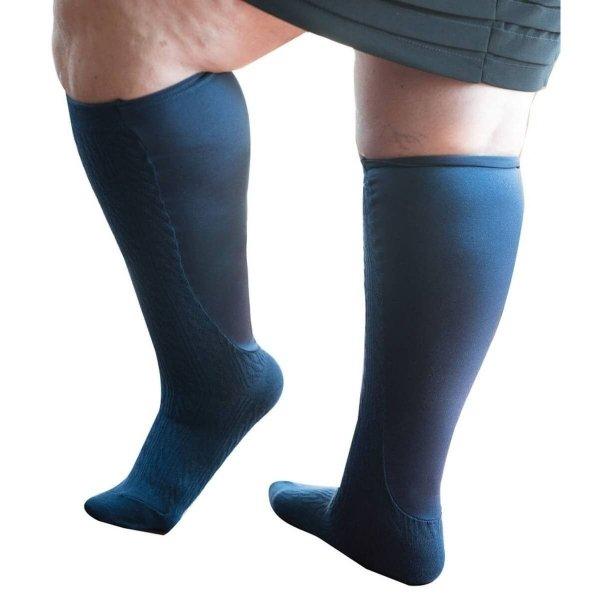 Xpandasox Dames - kabel - panty - kniehoogte - Blauw - 41 - 43