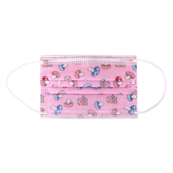 Kindermondmasker - 50 stuks - Niet Medisch - Roze